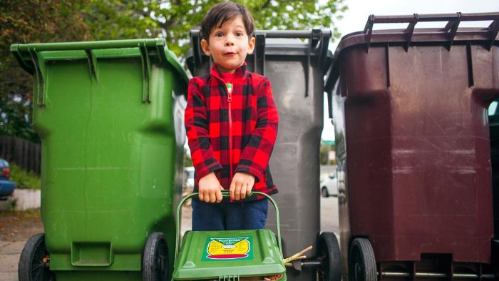 How do you arrange for residential garbage pickup in rural areas?