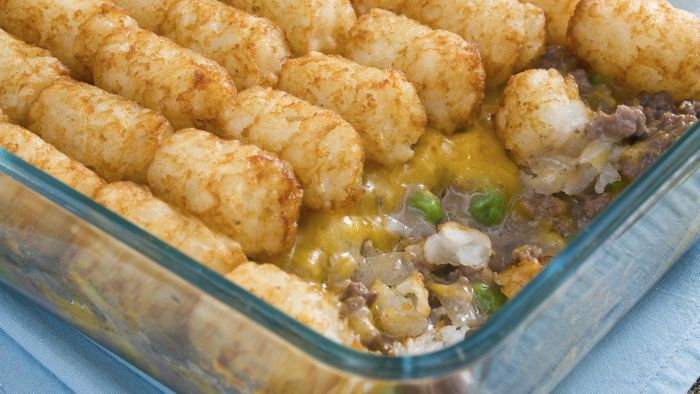 What Is a Recipe for Campbell's Tater Tot Casserole?