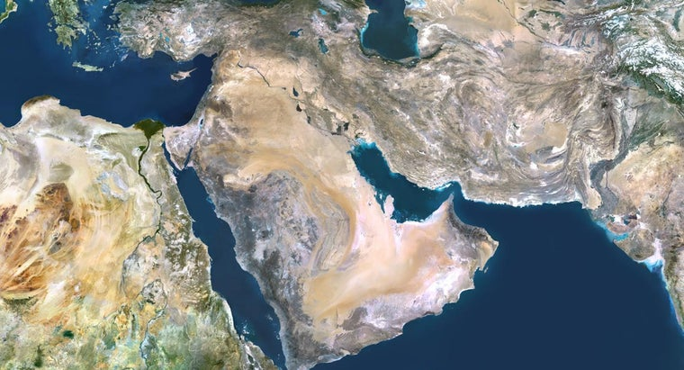 Where Can You Find a Map of the Middle East?
