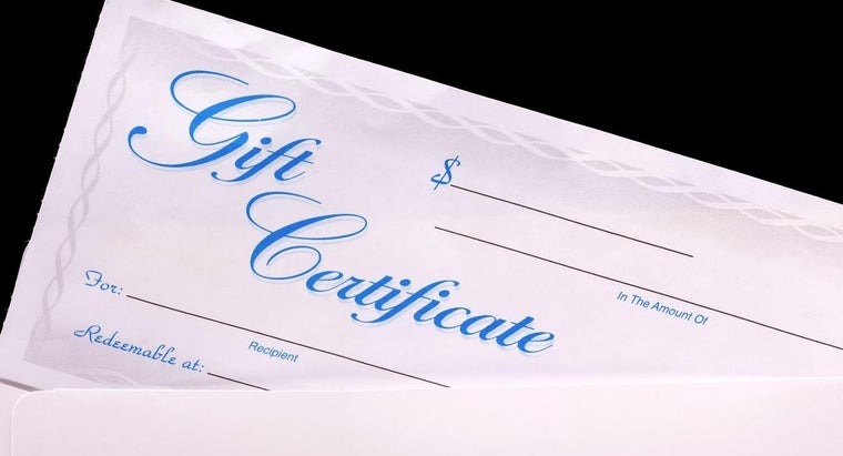 How Do You Find a Printable Blank Gift Certificate?