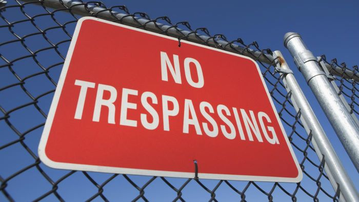 """Where Can You Buy a """"No Trespassing"""" Sign?"""