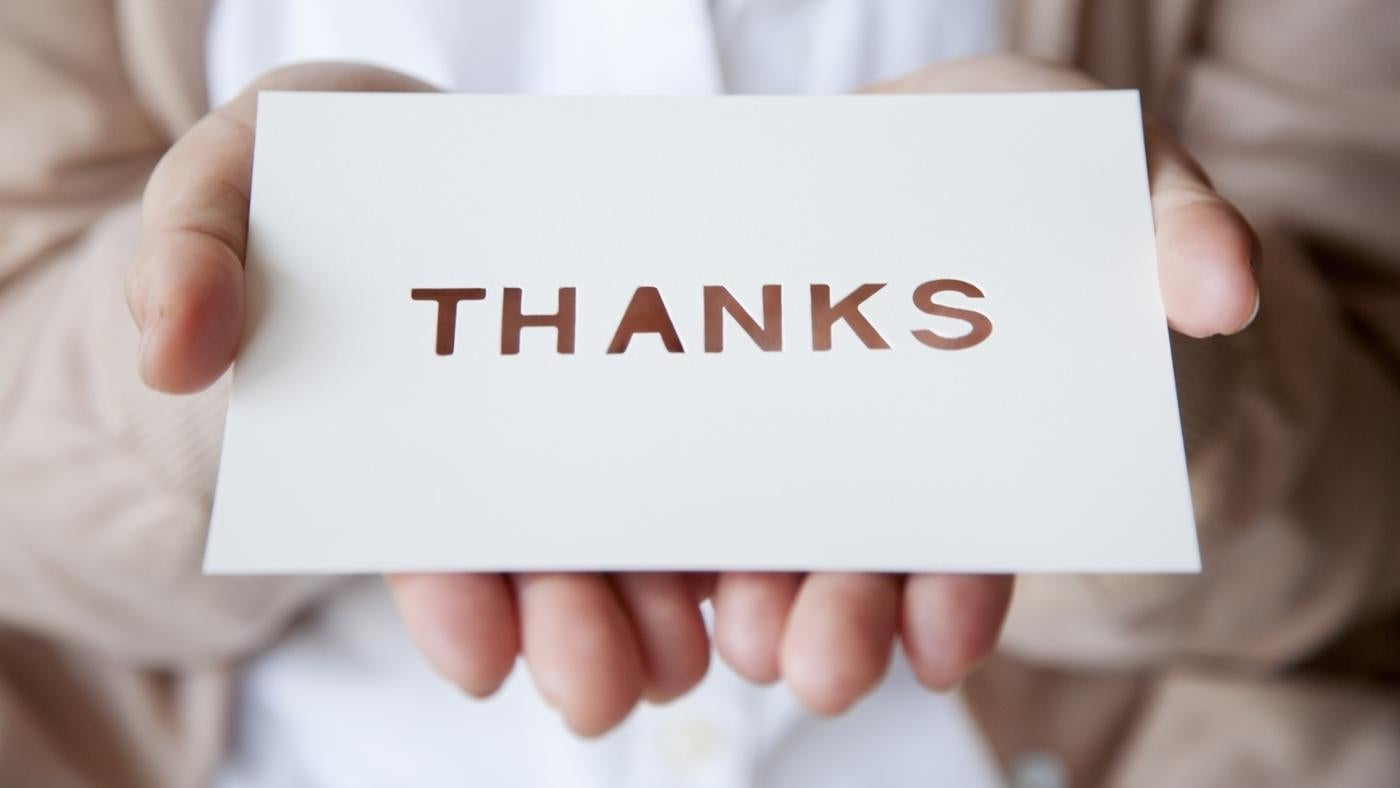 Where Can You Find a Thank You Note Template?