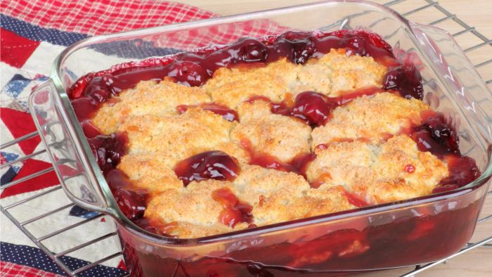 What Is an Easy Recipe for Cherry Cobbler?