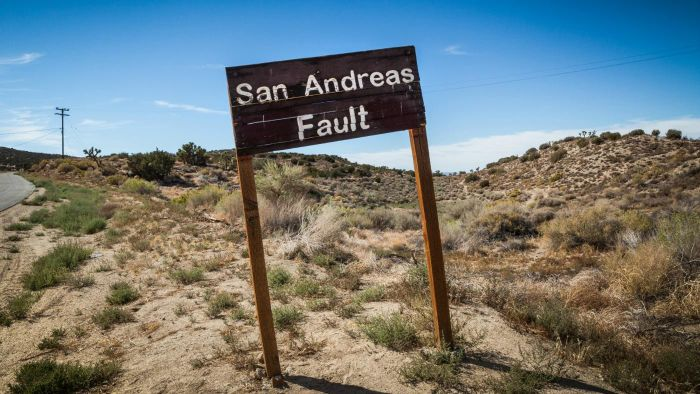 What Is on a Map of the San Andreas Fault Line?