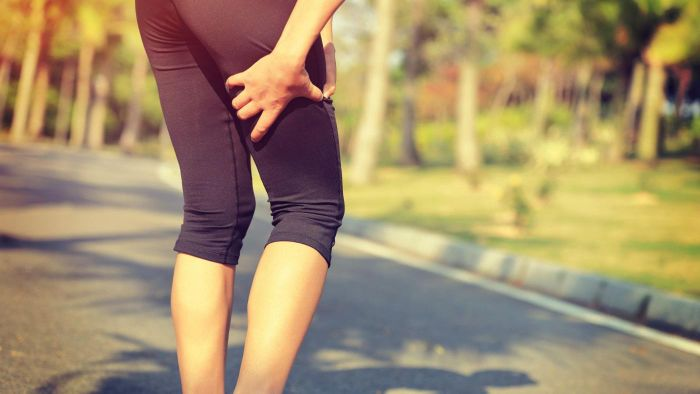 What are some causes for a shooting pain down the leg?