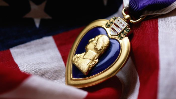 What Is the Ceremony for Veterans Who Receive a Purple Heart?
