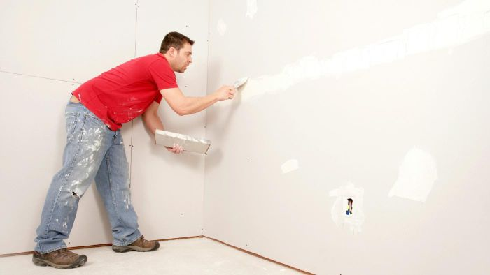 How do you mud drywall?