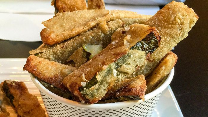 What is a good recipe for deep-fried zucchini?