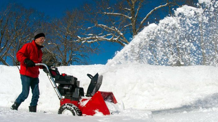 What are some popular brands of snow-clearing machines?