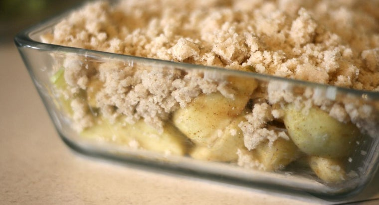 What Is a Good Recipe for Apple Crisp Without Oats?