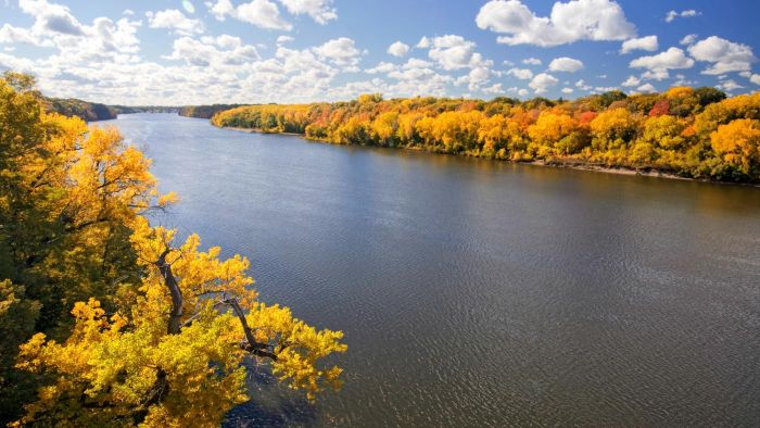 Where Is the Mississippi River on a Map of the U.S.?
