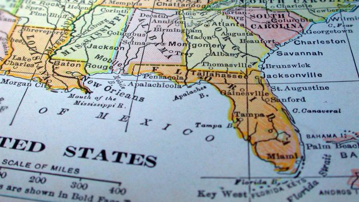 Where Can You Find a Map Online for the East Coast of Florida?