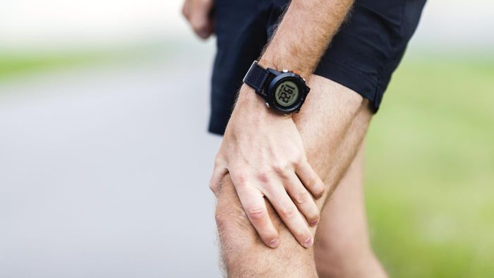 What could be the cause of a sharp pain in the left leg?