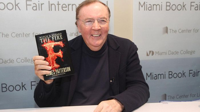 What type of novels does James Patterson write?