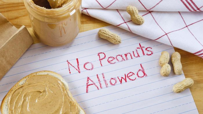 What are the main symptoms of nut allergies?