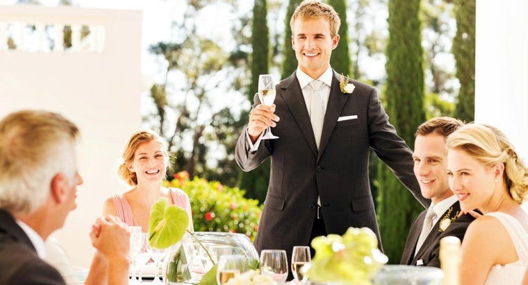 What Are Some Common Topics of Best Man Speeches for a Wedding Reception?