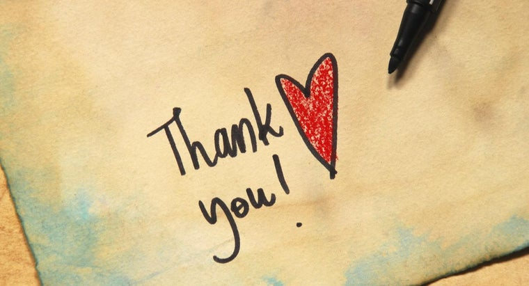 What Are Some Ways of Saying Thank You?