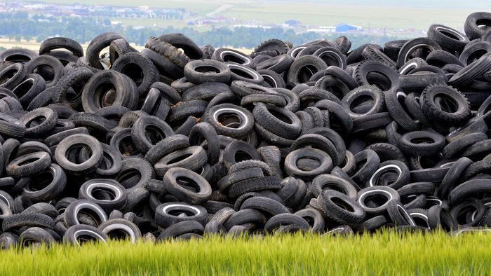 How do you dispose of old tires for free?