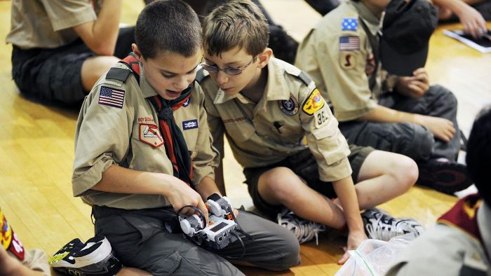 What are some Boy Scout merit badges?