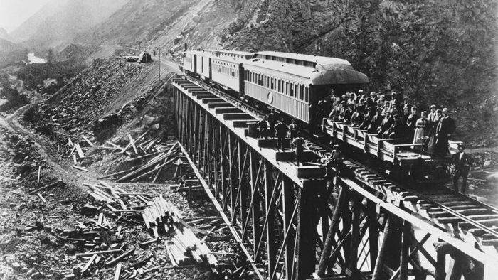 What was the Transcontinental Railroad?