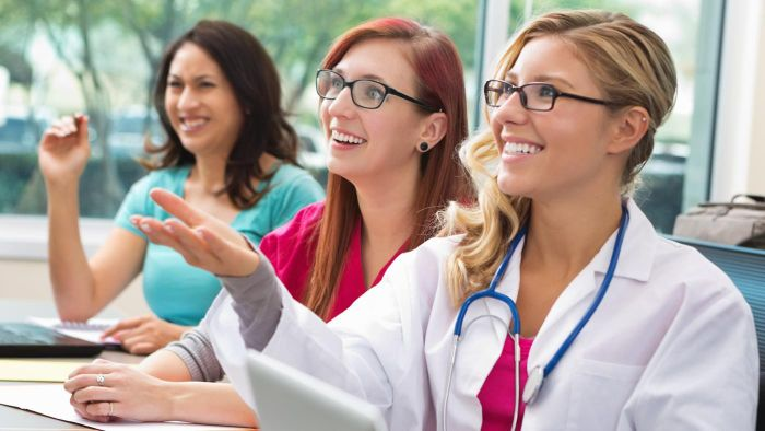 Is the HealthStream Learning Center Accessed by the Public?