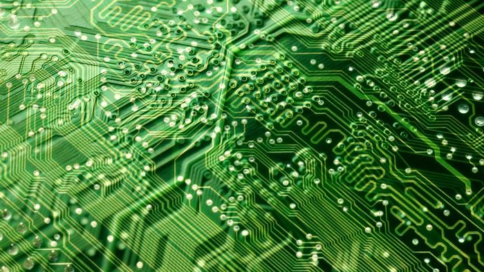What type of solder is used to construct an electronic circuit board?