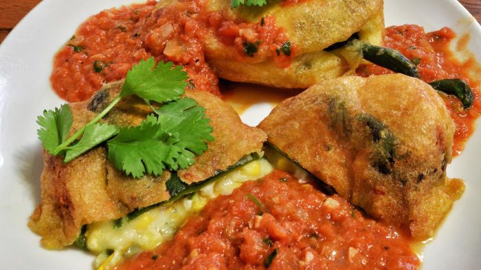 What Is a Recipe for Stuffed Poblano Peppers?
