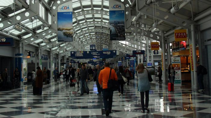 How large is O'Hare International Airport?