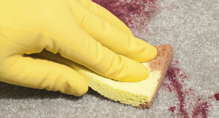 What Is a Good Homemade Method for Dried Blood Stain Removal?