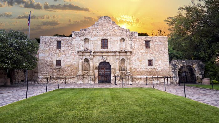 What Are Some Events Normally Held at the Alamo in San Antonio, Texas?