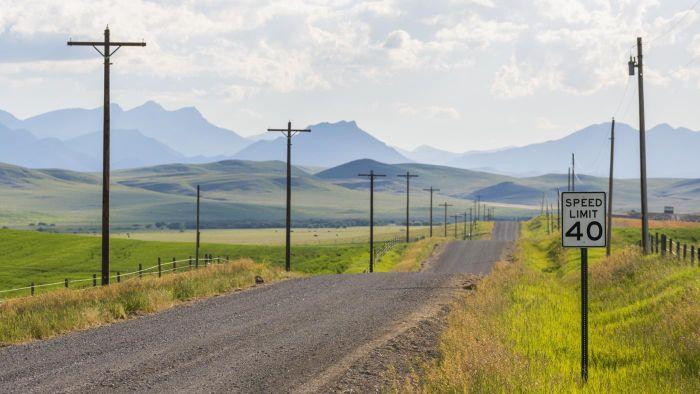 Where can you view a Montana state road map?