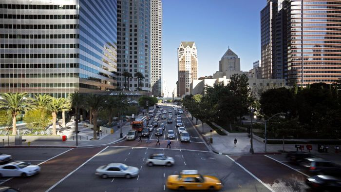 How can you find current taxi fare rates in Los Angeles?