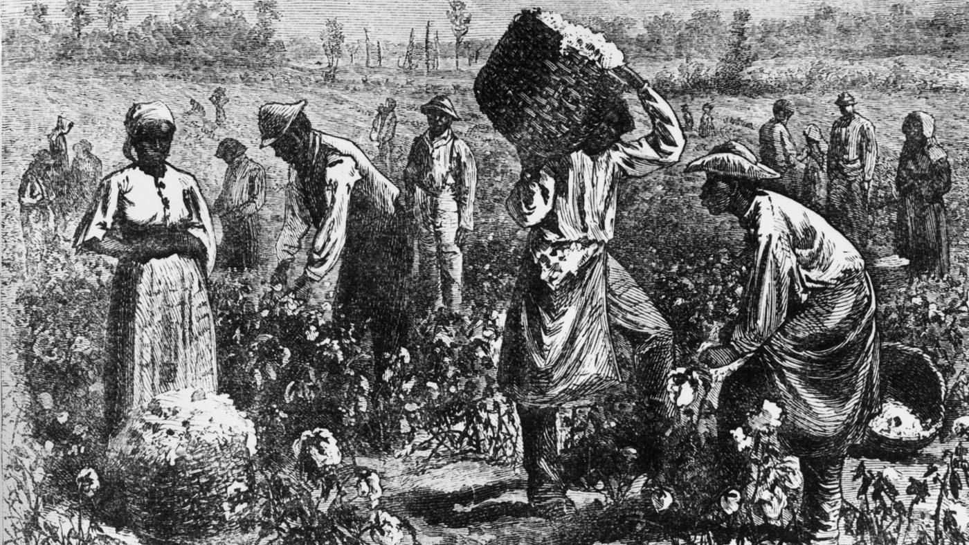 "slavery in the american south The american antislavery movement, linked to the ""second great awakening,"" succeeded in arousing immense hostility between the non-slave north, where most states had voluntarily abolished slavery by 1804, and the slaveholding south, where the ""peculiar institution"" became even further entrenched because of the spread of cotton cultivation."