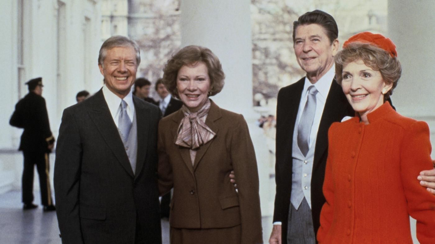 who did ronald reagan run against for his presidential campaigns