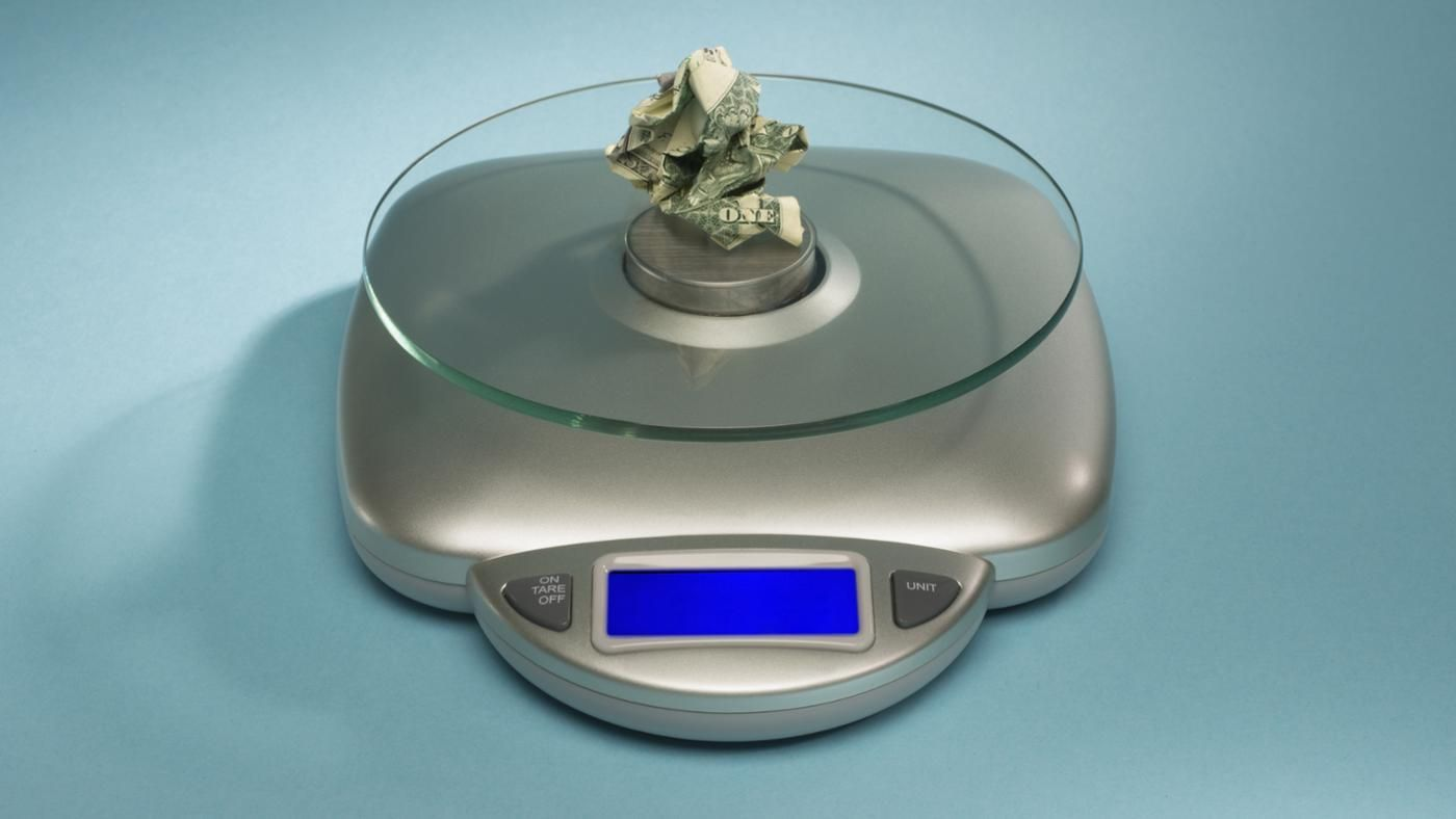 How much does a million dollars weigh