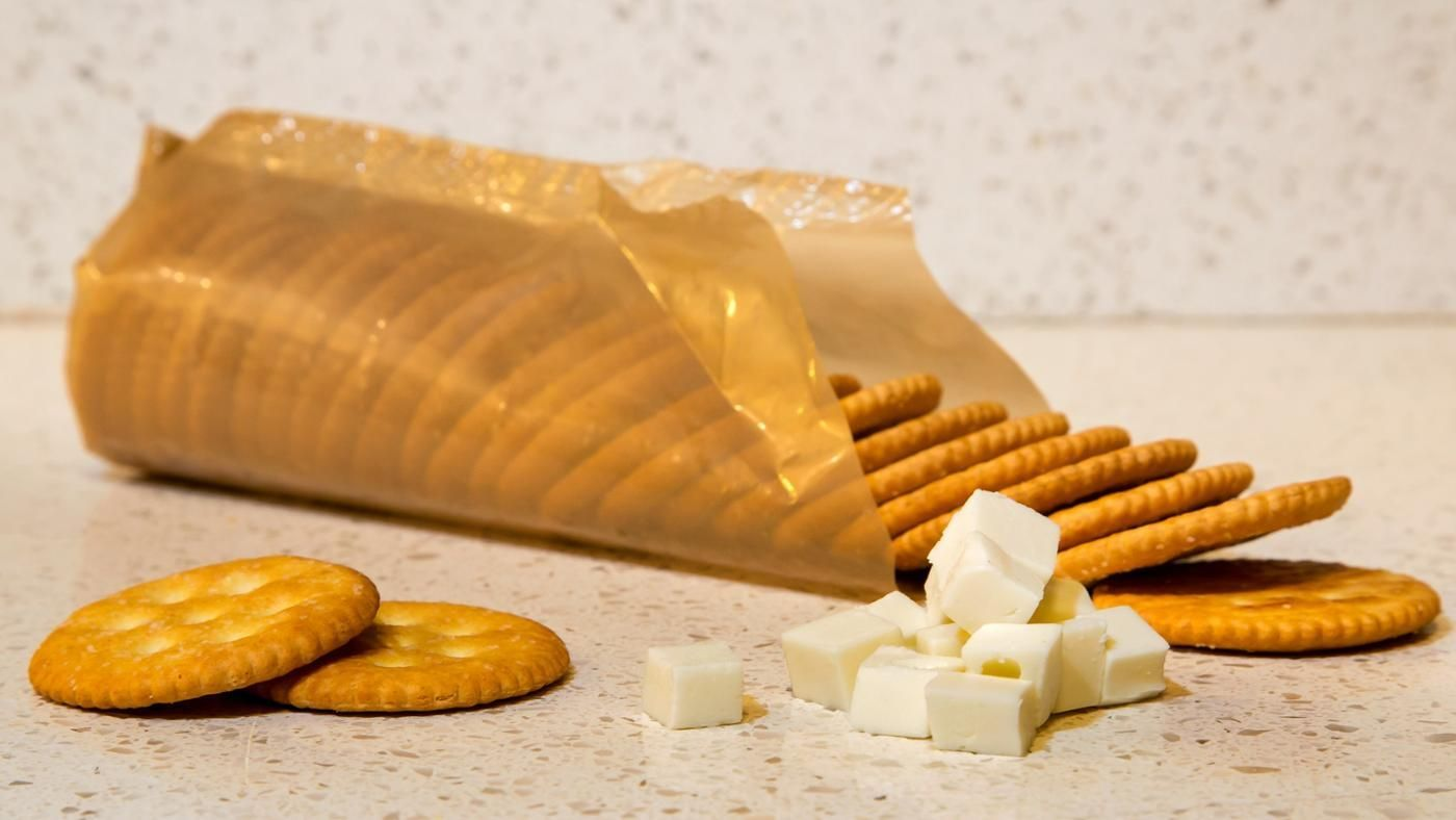 how many calories are in a ritz cracker? | reference