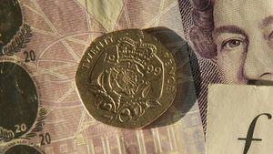 When was the 20 pence coin introduced?
