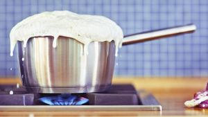 What is the boiling point of milk?