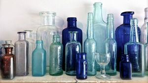 How do you clean antique glass?