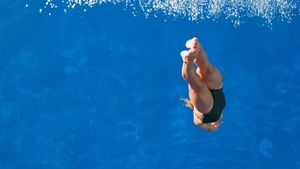 How deep is an Olympic diving pool?