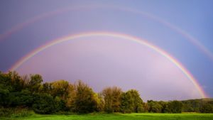 What does a double rainbow mean?