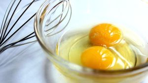 What is egg yolk made of?