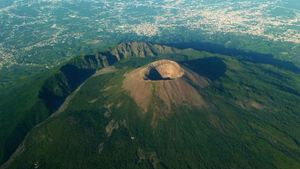 How old is Mount Vesuvius?