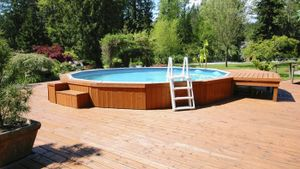 How do you clean an above-ground pool?
