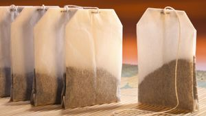What material are tea bags made from?