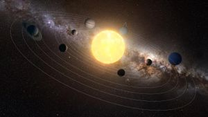 What are the nine elements named after celestial bodies?