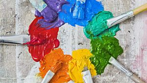 What is a paint color mixing chart?