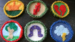 What is the placement for a Girl Scout patch?