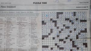 What section contains the crossword in the Sunday NY Times?