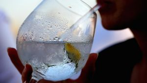 What is the sugar content of gin?